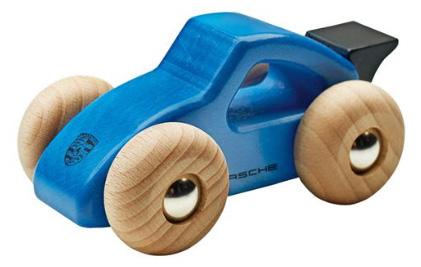 Porsche Wooden Car blue/black